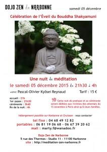Nuit de méditation zen Narbonne 05 décembre 2015