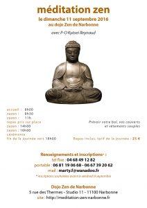 Journée de zazen le 11 septembre 2016 au dojo de Narbonne