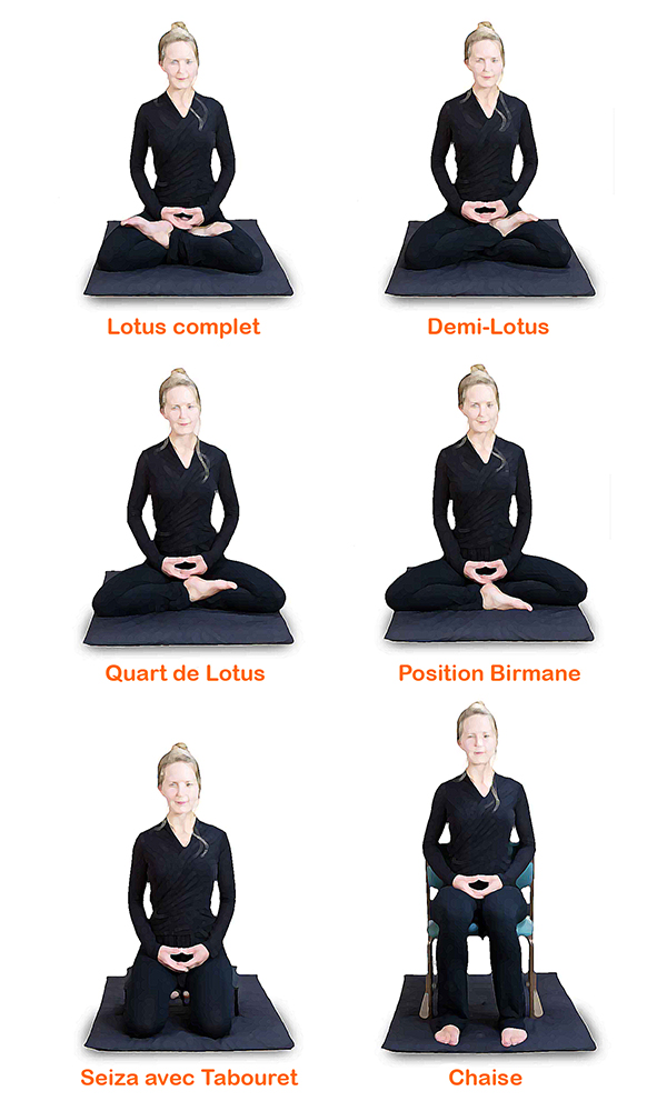 Les postures de méditation