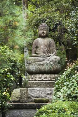 Statue de Bouddha dans le jardin du Temple zen Ryoanji à Kyoto