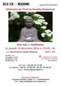 Nuit de méditation zen le 10 décembre 2016