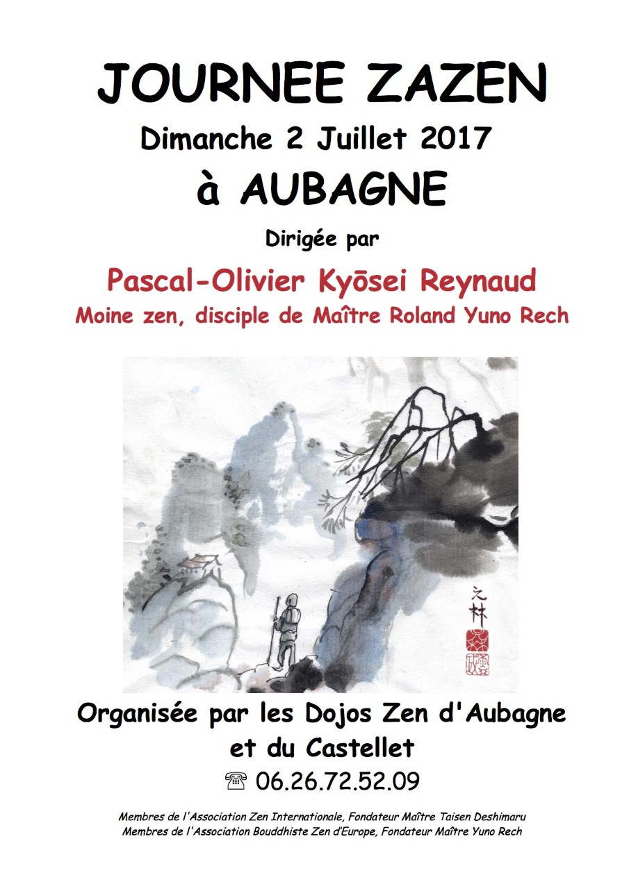 aller à la journée de méditation zen à Aubagne