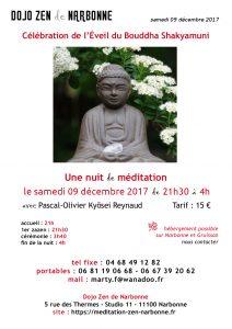 nuit de Zazen à Narbonne le 09-12-2017