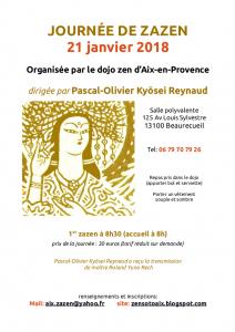 2018 - 21 janvier - journée de zazen - Aix-en-PCE - Beaurecueil
