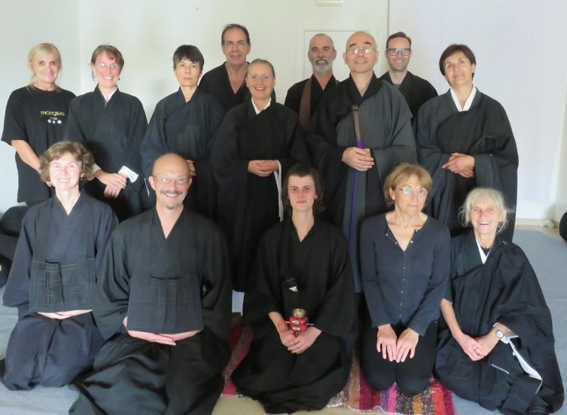Les participants à la journée de zazen de Revel