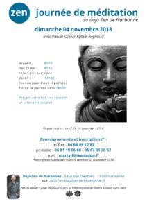 Journée de Zazen à Narbonne le 04 novembre 2018
