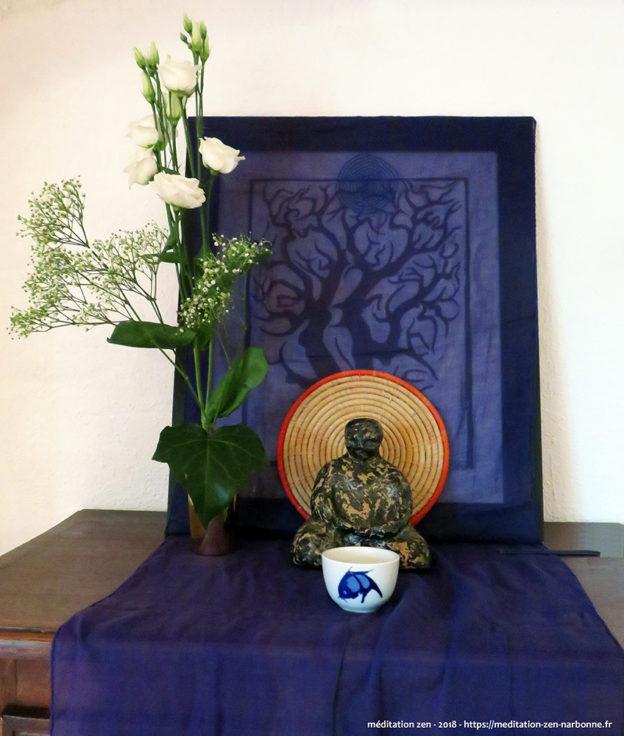 Retraite zen en 2018 au Hameau de Lacan - petit autel