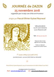 Journée de méditation Zen du 25 novembre 2018 à Aix en PCE