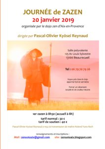 Journée de méditation zen le 20 janvier 2019 Kyosei Reynaud