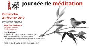 24 fevrier 2019 Journée de Méditation Zen au dojo de Narbonne