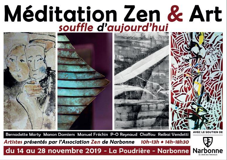 Exposition méditation zen et art à Narbonne