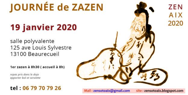 Méditation zen à Aix en PCE 19 janvier 2020