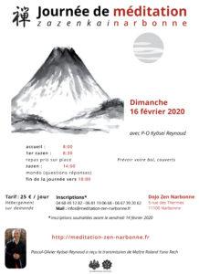 Dimanche 16 février 2020journée de méditationzen à Narbonne