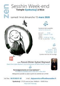 14-15 mars 2020 SESSHIN Gyobutsuji Nice Kyosei-Reynaud
