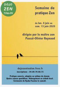 Semaine de meditation zen à Toulon P-O Reynaud Juin 2020